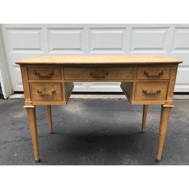 Mastercraft Desk Burled Wood - Image 2 of 11
