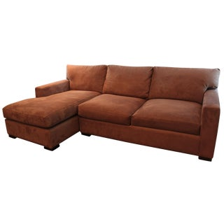Crate & Barrel Brown Sectional