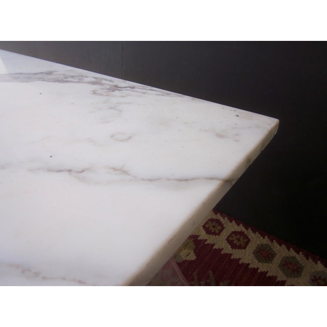 Italian Lucite & Marble Coffee Table - Image 6 of 11