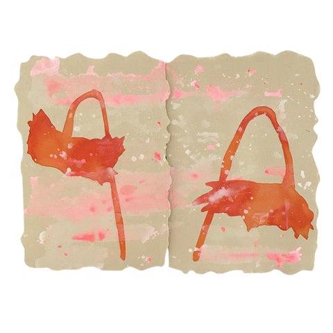 Image of Kate Roebuck Sprinkles One Diptych Watercolor Painting