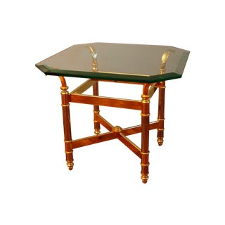 Vintage Brass & Glass Side Tables - A Pair