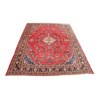 Persian Hand Knotted Area Rug - 9′8″ × 12′2″
