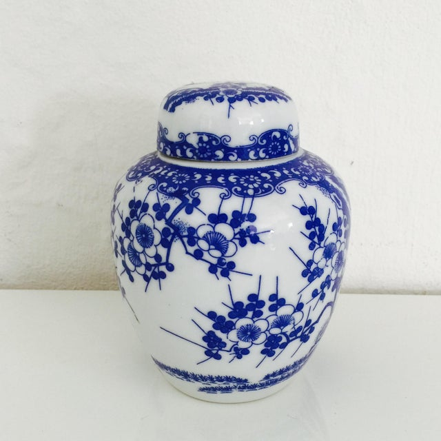 Mini Chinoiserie Blue & White Ginger Jar - Image 2 of 7