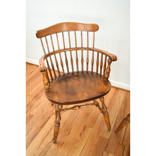 Vintage Nichols Amp Stone Dining Arm Chairs A Pair Chairish