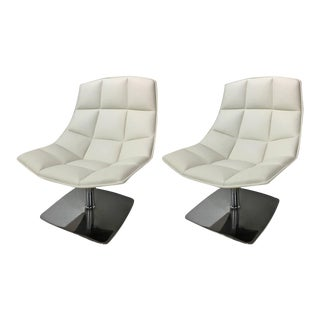 Pair of Jehs + Laub for Knoll Pedestal Base Lounge Chairs