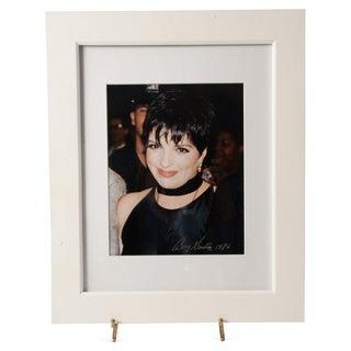 Photo of Liza Minnelli Signed by Barry Gordin 1986