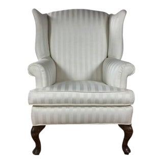 Vintage White Wing Back Armchair