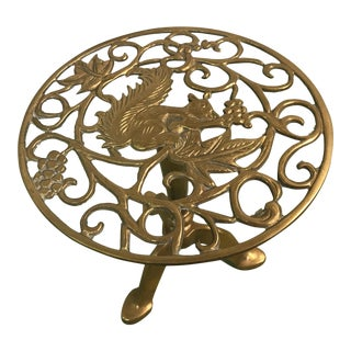 Vintage Brass Squirrel Garden Seat
