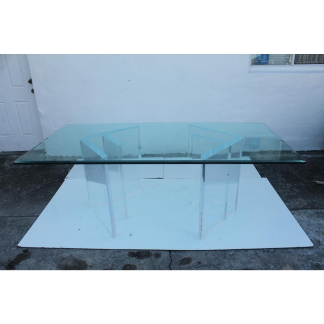 Sculptural Lucite & Glass Dining Table - Image 11 of 11