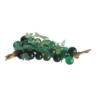 Green Lucite Grapes on Driftwood