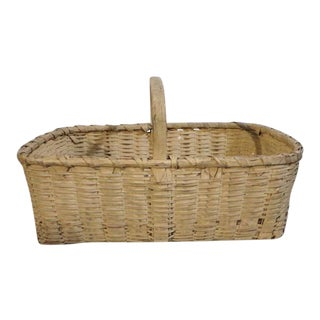19th Century Original Buttermilk Painted Basket