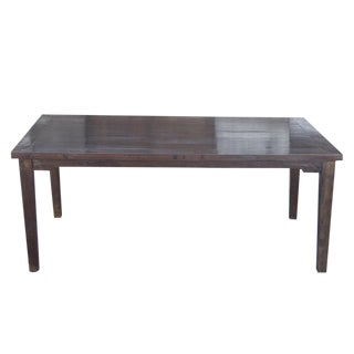 Rustic Elm Wood Dining Table