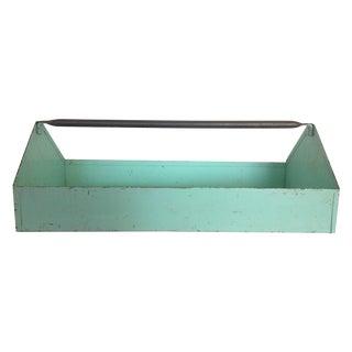 Vintage Aqua Metal Tool Box