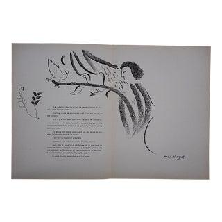 1964 Vintage Chagall Lithograph for Derriere Le Miroir