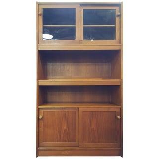Danish Modern Teak Sliding Door Bookcase or Storage Cabinet