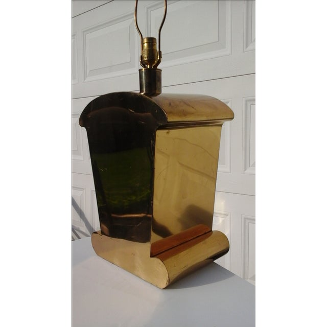 Image of Brass Art Deco Chapman Lamp