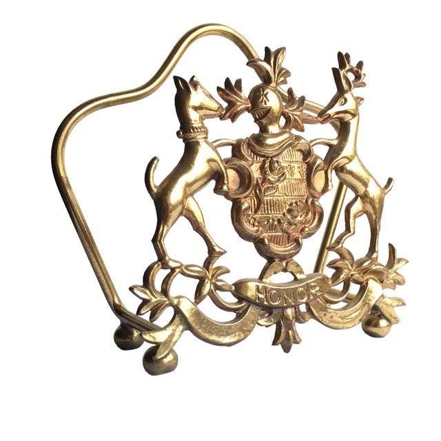 Image of Vintage Italian Brass Letter Holder
