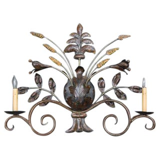 French Sculptural Wall Sconce