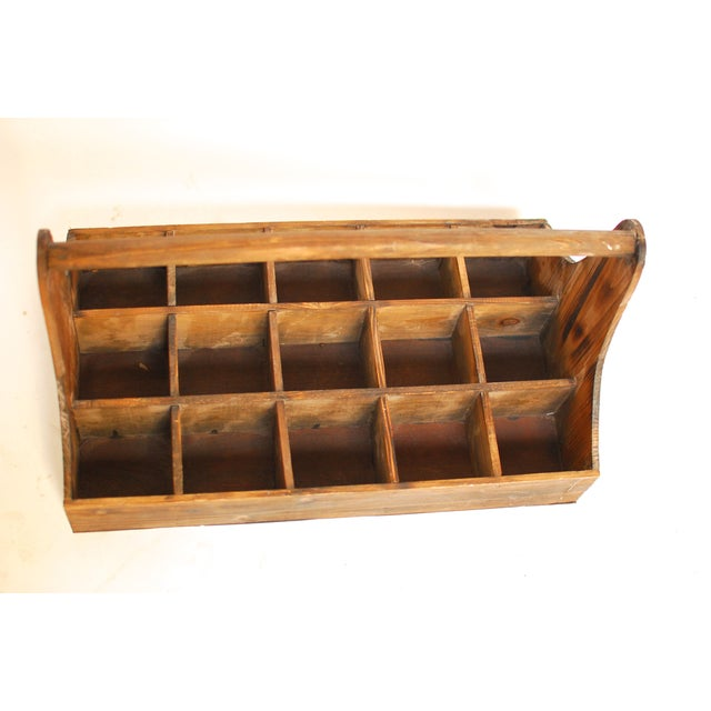 Image of Vintage Wood Bottle Caddy