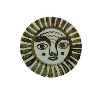 Mexican Modern Abstract Sun Face Trivet by Ken Edwards