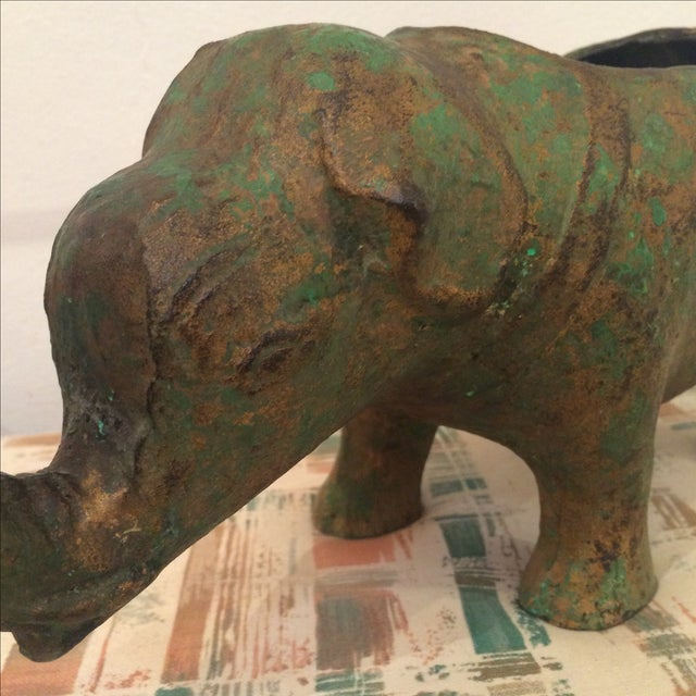 Japanese Cast Metal Elephant Planter - Image 5 of 7