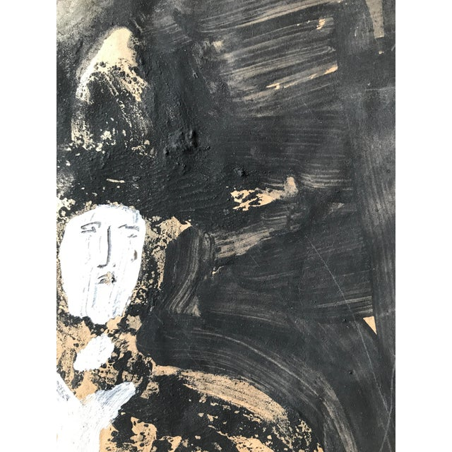 """1968 Jack Hooper """"Man With Hat"""" Painting - Image 5 of 8"""