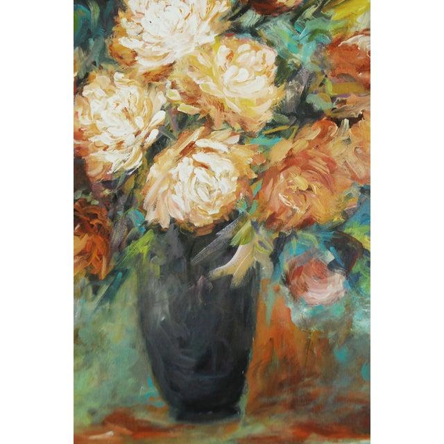 Image of Vintage Impressionist Chrysanthemums Painting