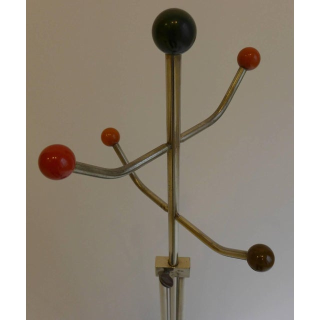 Slender Machine Age Hat Rack or Coat Rack - Image 6 of 10