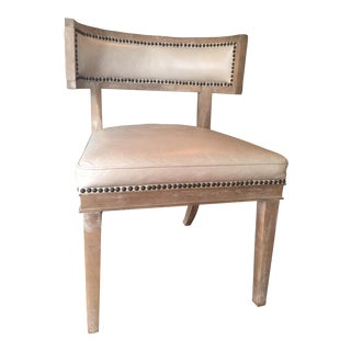 Jayson Leather & Oak Kilismos Style Poppy Chair