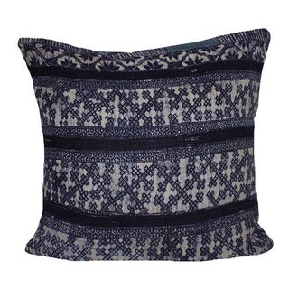 Vintage Handwoven Batik Hemp Pillow