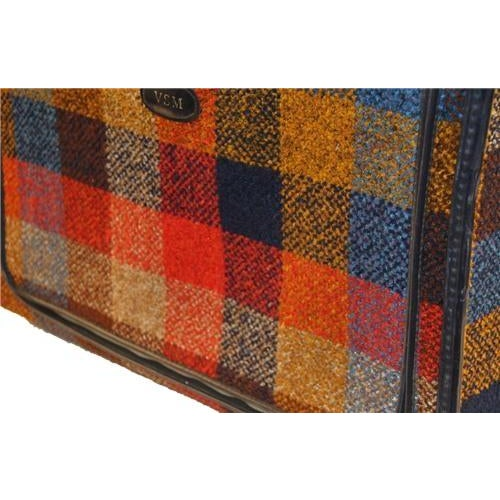 Vintage Bright Chenille Skyway Suitcase - Image 2 of 10