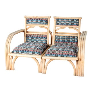 Rattan Patio Lounge Chairs - A Pair
