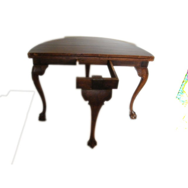 English Walnut Demi Lune Table Chairish