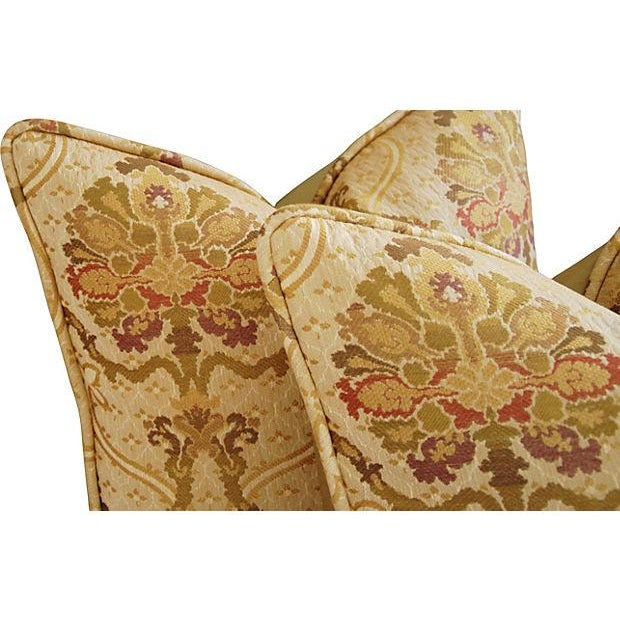 Custom Italian Old World Tapestry Pillows - A Pair - Image 4 of 7