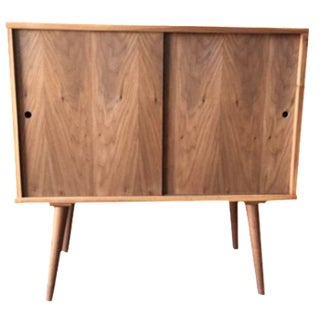 Mid-Century-Style Record Bar  Cabinet