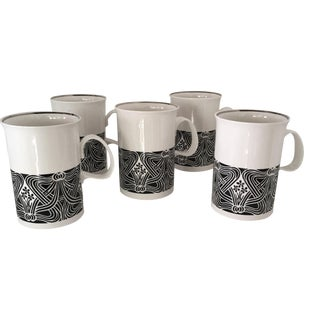 Liberty of London Art Deco Style Mugs - Set of 5