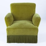 Image of 1940s French Green Upholstered Armchairs - A Pair