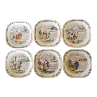 French Opera Plates - Set of 6