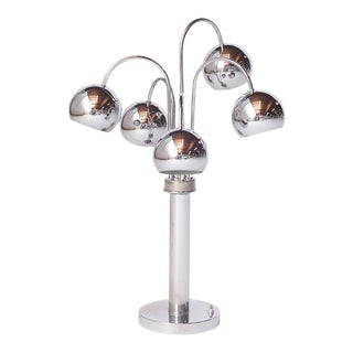 Chrome Table Lamp by Reggiani, Italy