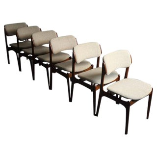 Teak Dining Chairs by Erik Buck for O.D. Møbler - Set of 6