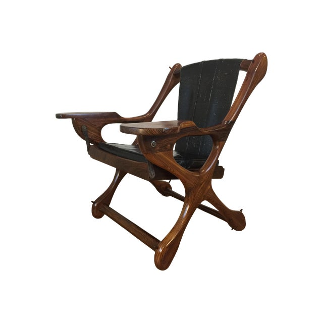 Don Shoemaker Studio Rosewood Swing Chair - Image 1 of 11