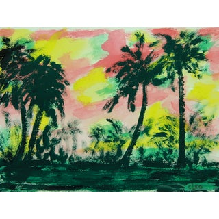 """Wild Palm Grove"" Abstract Painting by Cleo"
