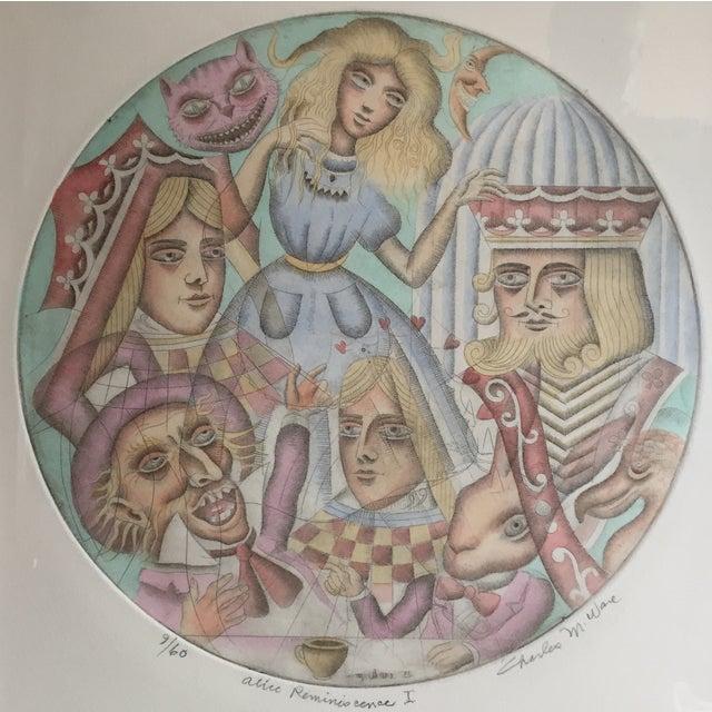 Alice in Wonderland 1971 Original Framed Print - Image 3 of 5