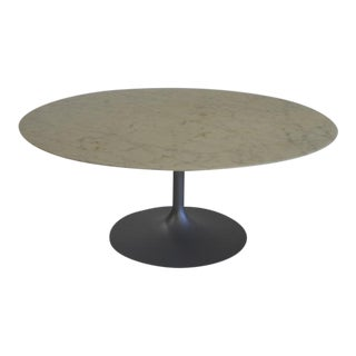 Eero Saarinen Round Marble Tulip Coffee Table for Knoll