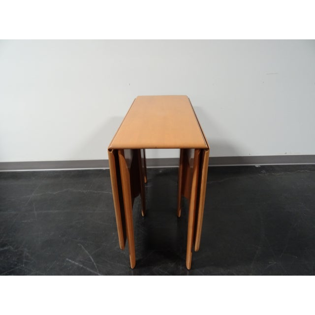 Heywood Wakefield Wheat Gate Leg Drop Leaf Table - Image 7 of 11