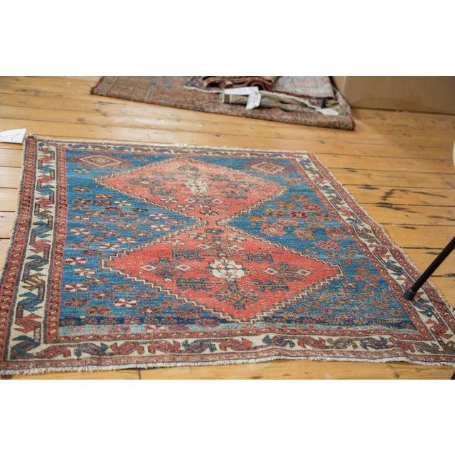 "Distressed Antique Persian Square Rug - 3'3""x3'10"" - Image 4 of 7"