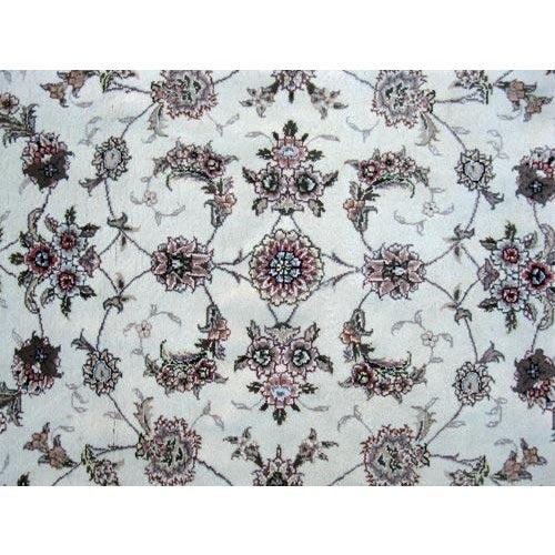 Hand Woven Silk Kashan Rug - 7' x 7' - Image 3 of 6