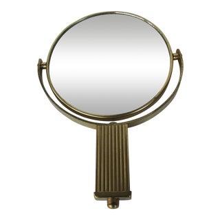 Vintage Brass Handheld Mirror