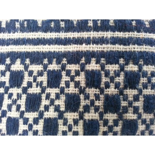 Tibal Indigo Embroidered Lumbar Pillow - Image 4 of 5