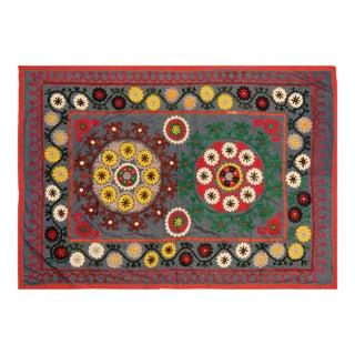 "Traditional Uzbeki Suzani Textile - 4'10″ X 6'10"""